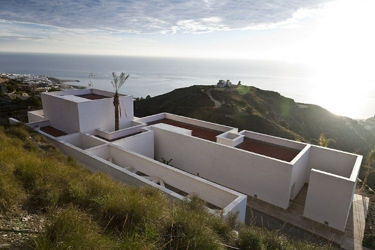 AA House by MVN Architects // gotta see this for real! Completed in 2007, the AA house designed by MVN Architects is positioned on a hillside above the coastal city of Almería, Spain.