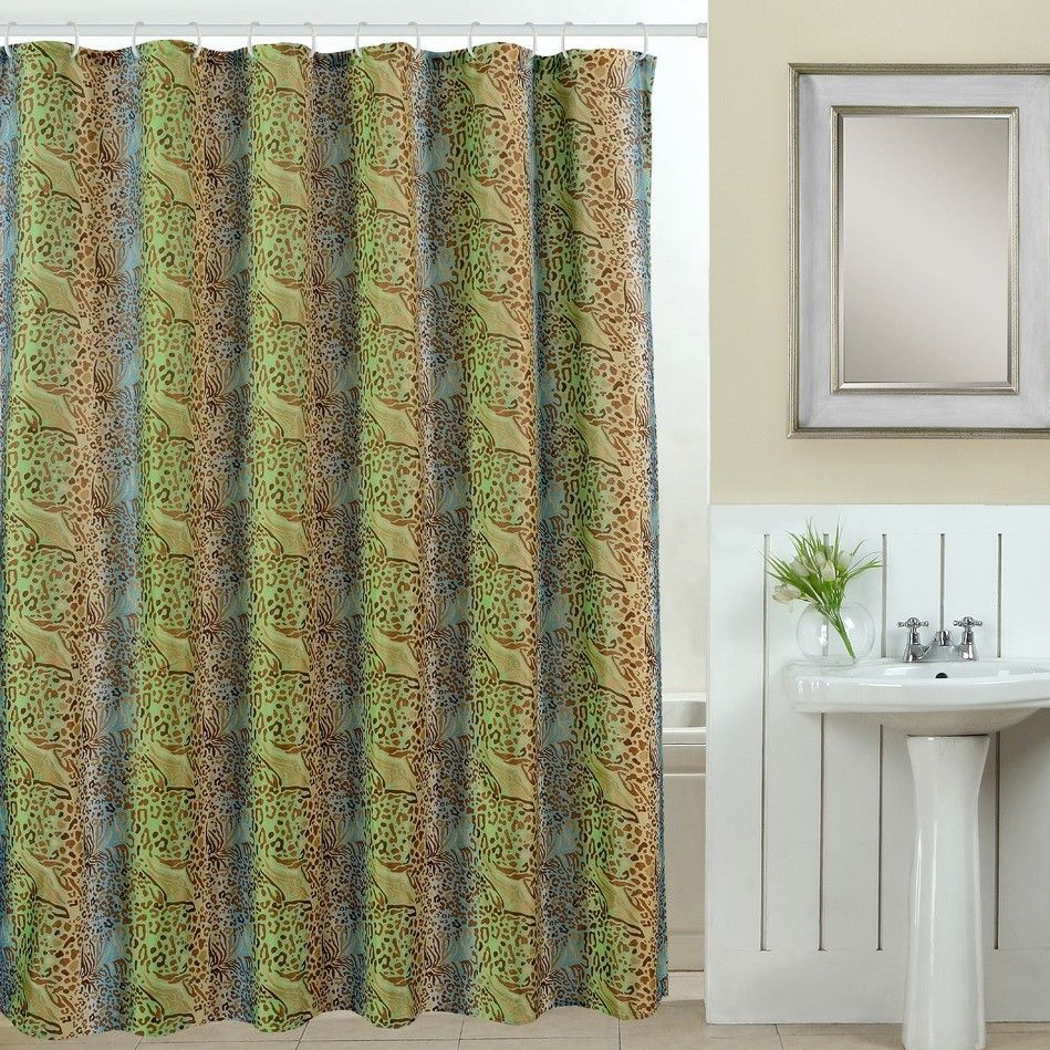 Wildlife Piece Printed Shower Curtain Set Products Pinterest