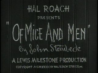 Title card for Of Mice And Men 1939  | 1939 | Movie titles, Mice