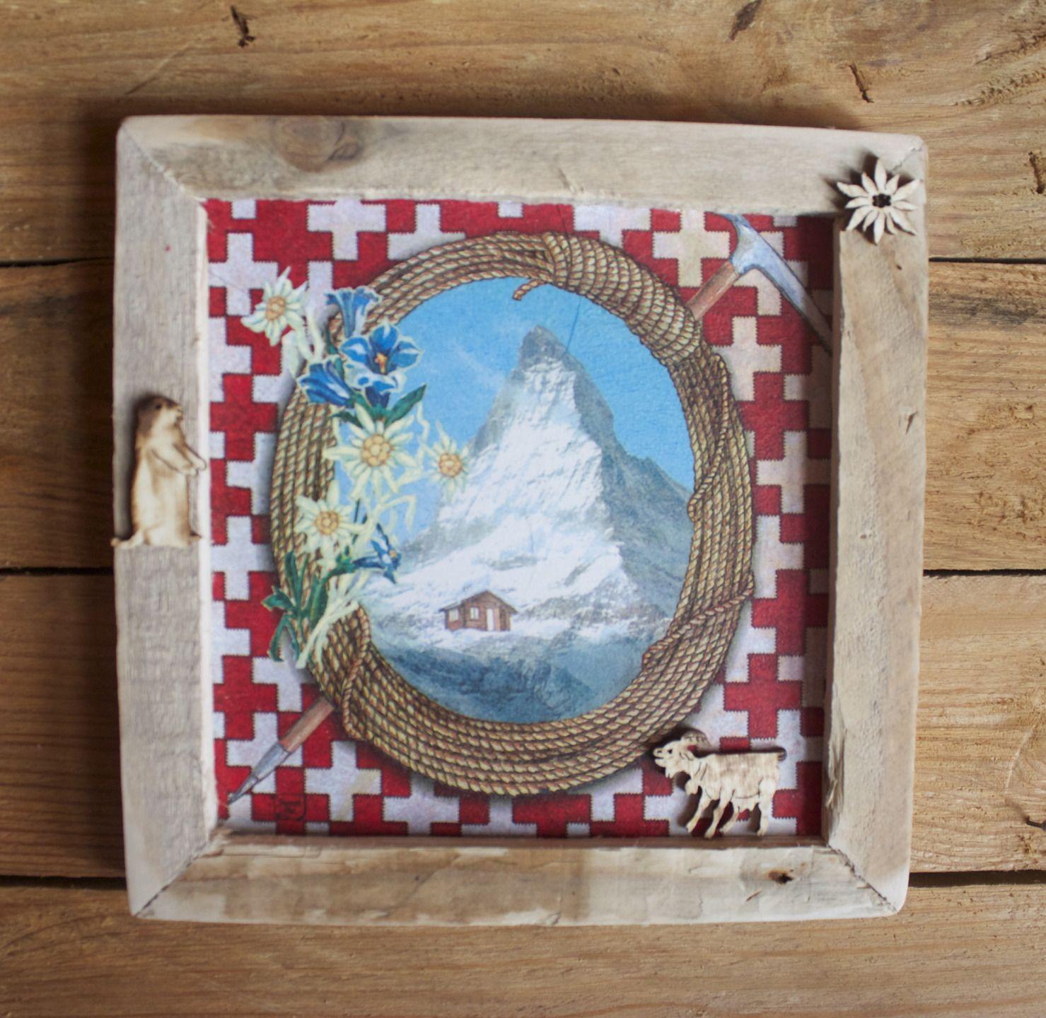Ambiance Et Style Tableau tableau déco montagne ambiance chalet l'été : décorations