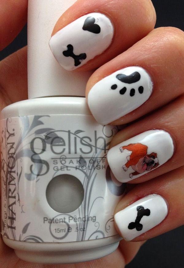English Bulldog Nails | nails | Pinterest