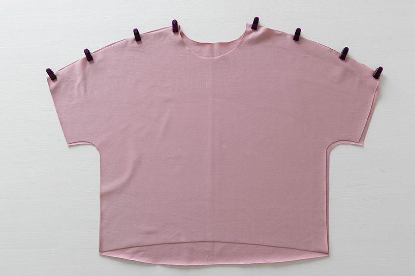 Einfaches T-Shirt nähen - Schnittmuster kostenlos