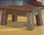 Rustic/ Reclaimed wood/ Farmhouse stool/ Primitive/ foot stool/ step stool