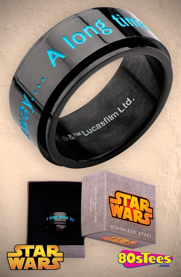 A Long Time Ago Star Wars Ring Star wars ring Star wars jewelry