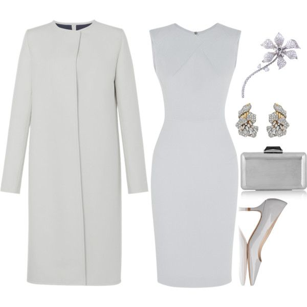 Silver-grey by injie-anis on Polyvore featuring moda, Roland Mouret, Martin Grant, L.K.Bennett, KOTUR and David Webb