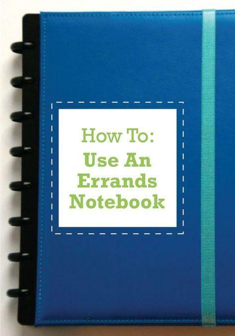 home management 2014 :: my errands notebook