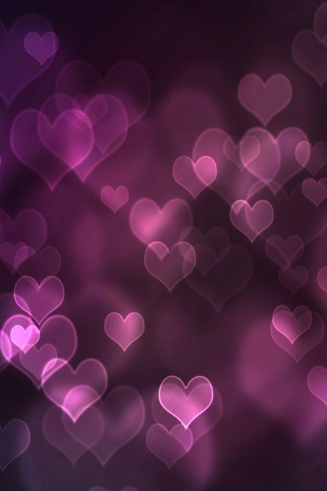 Purple Hearts Whatsapp Background Heart Wallpaper Heart