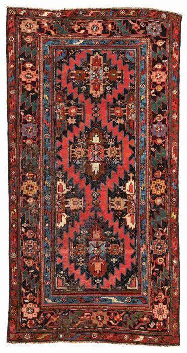 VAN-HAM Kunstauktionen Karabagh.  19th C. 200 x 112cm.   Cf. Schürmann. Teppiche aus dem Kaukasus. No. 32.