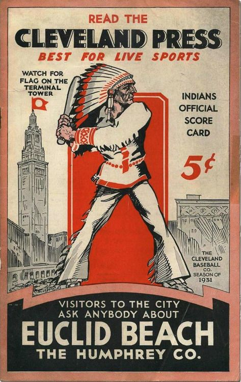 Cleveland Indians official scorecard (1931)