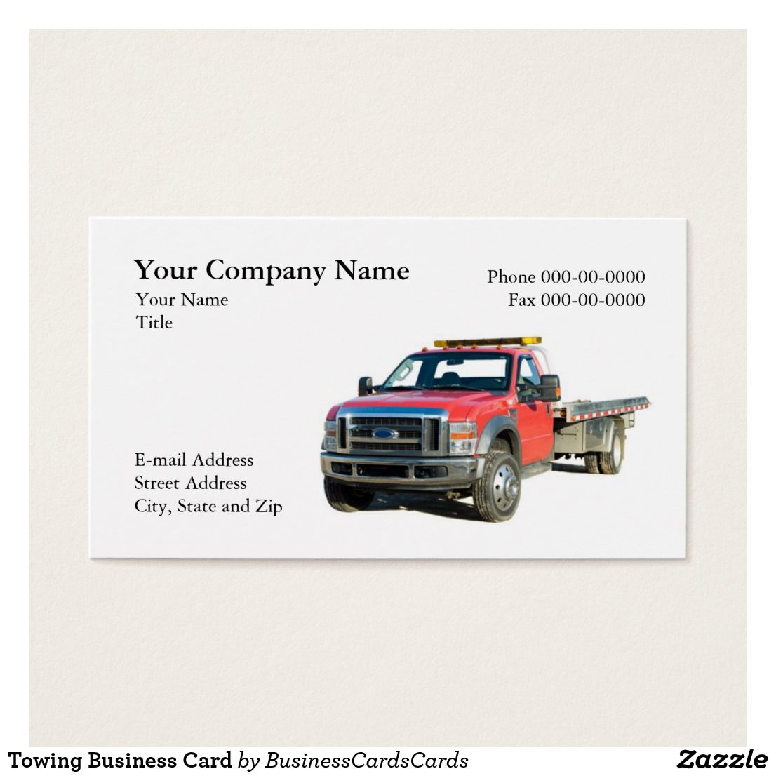 Towing Business Card | Pinterest | Business cards and Business