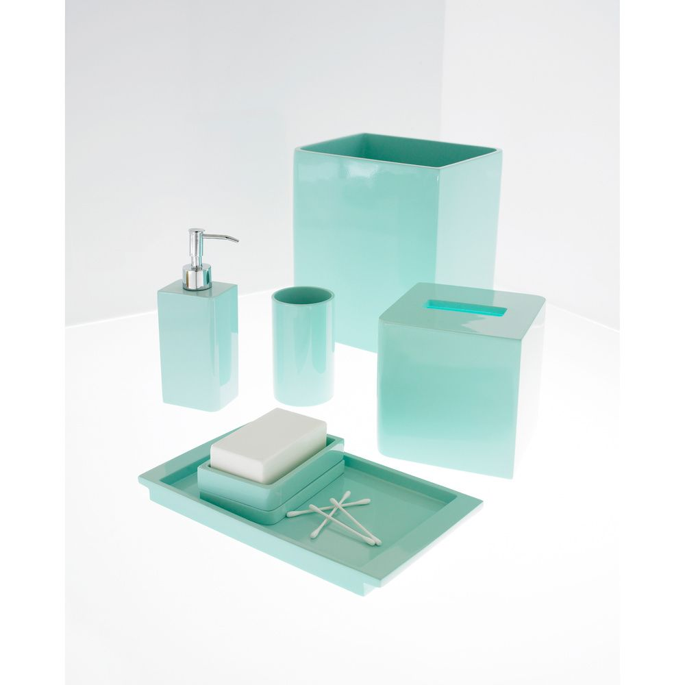 Solid lacquer light blue bath accessory collection overstock solid lacquer light blue bath accessory collection overstock shopping the best prices on aloadofball Choice Image