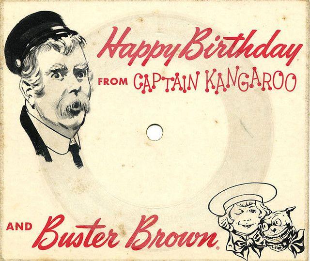 Captain Kangaroo Buster Brown Birthday Card Record Captain Kangaroo Vintage Birthday Cards Birthday Cards