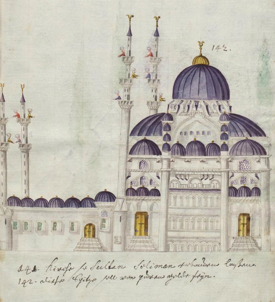 Suleymaniye Camii Icones Habitus Monumenta Turcarum 16 Th C