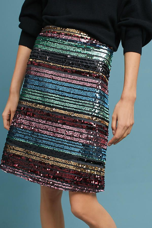 8658c527 Sequined Soiree Skirt |