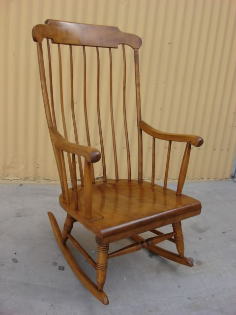This is a beautiful American antique maple rocking chair that dates from  The antique rocking chair is tall, wide, deep, the measurement from the  floor to ... - The Antique Rocking Chair Is 43