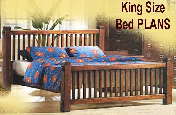 woodworking grooves king mission bed