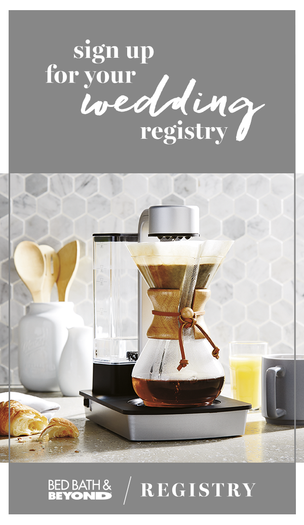 Create Your Wedding Registry With Bed Bath Beyond And Begin The Blissful Moments Leading Up To Married L Wedding Registry Bedding Bed Bath And Beyond Wedding
