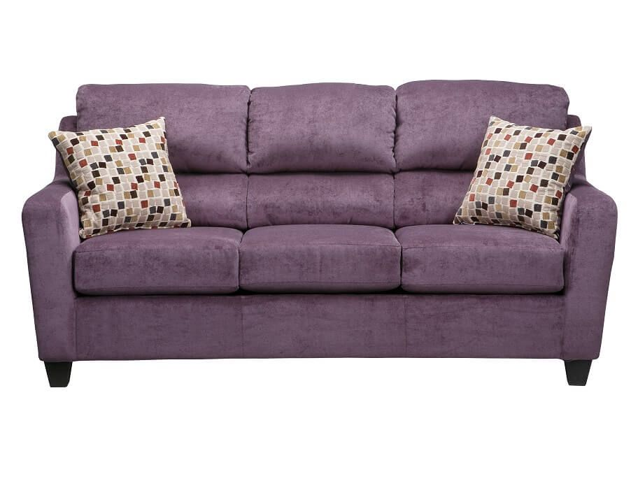 Slumberland Ryder Collection Plum Queen Sleeper Couches Living Room Furniture Sofa