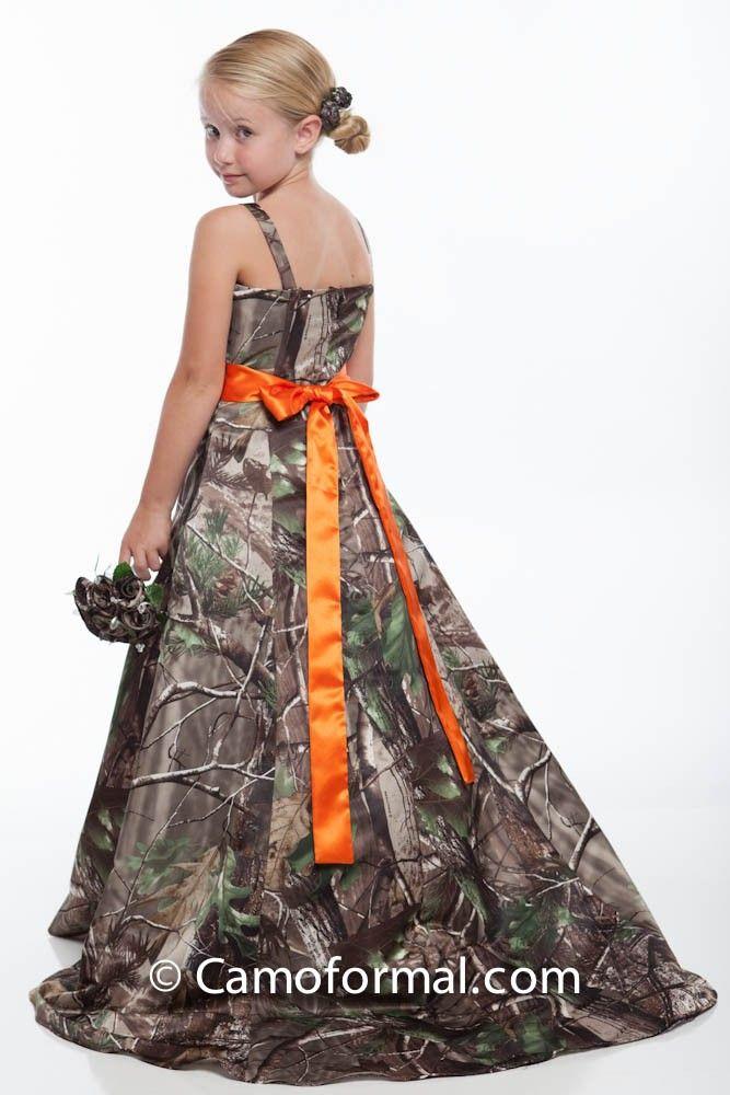 Back: 8799 flower-girl in Realtree APG with Hunter's Orange Sash ...