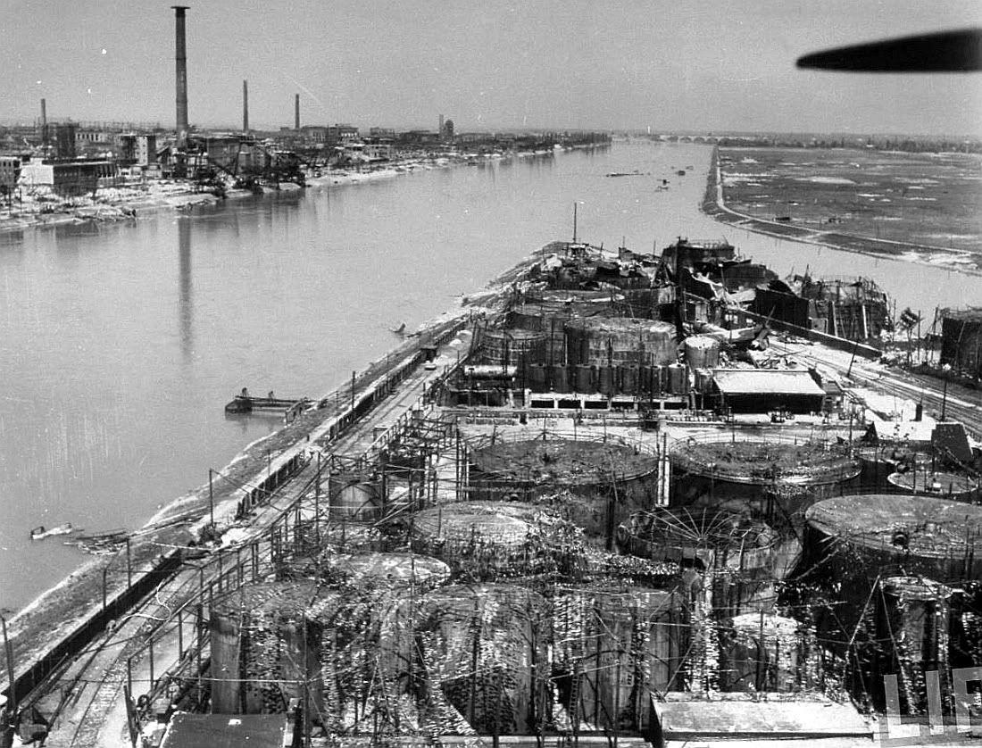 Bombed plant on Rhine, Ludwigshafen 1945 | Military history