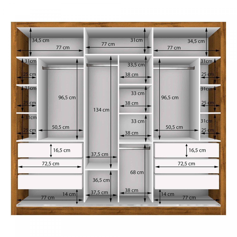 Guarda Roupa Casal Com 3 Espelho 3 Portas Espresso Moveis Freijo Casal Disenodedormitorio In 2020 Ankleidezimmer Design Ankleiderzimmer Schrankdekoration