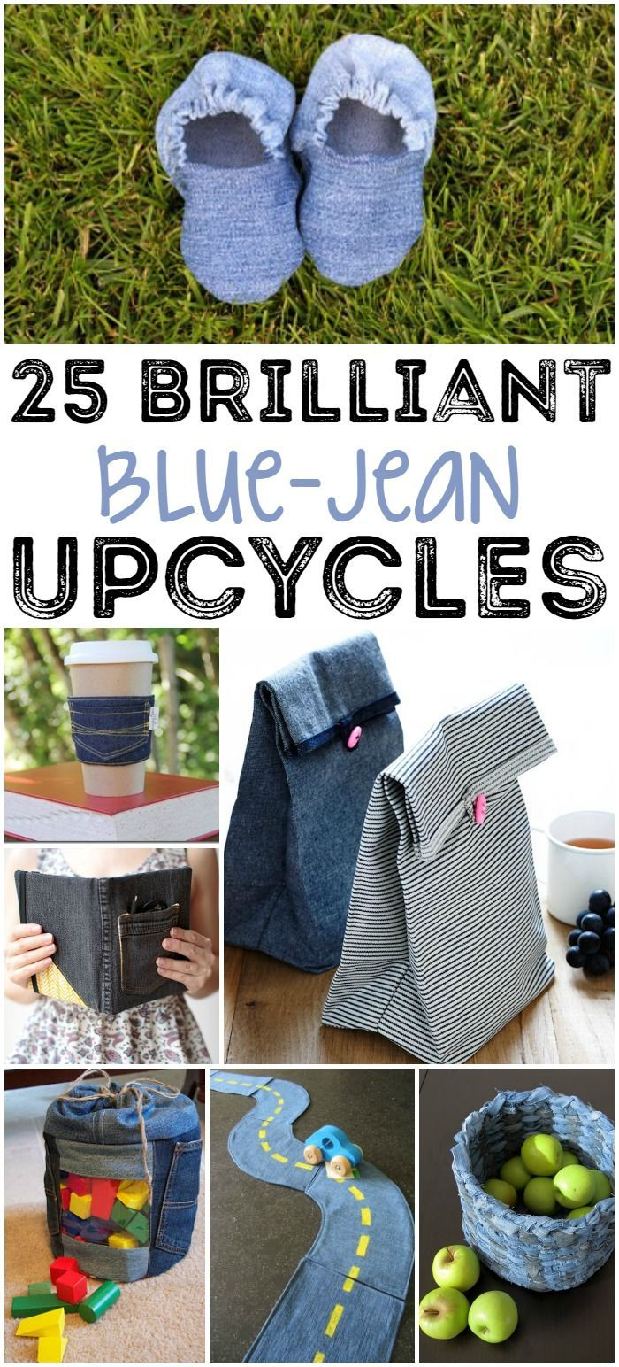 25 Brilliant Upcycled Denim Projects | Craft, Upcycle and ...