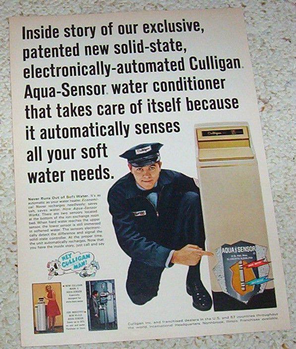 1968 Print Ad Culligan Soft Water Hey Culligan Man Vintage Advert Page Print Ads Vintage Advertisements Vintage Men