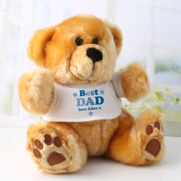 Personalised Best Dad/Daddy Teddy Bear | The Gift Experience