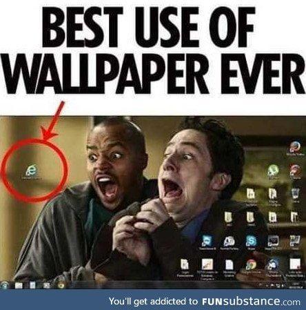 Best use of wallpaper ever! - FunSubstance