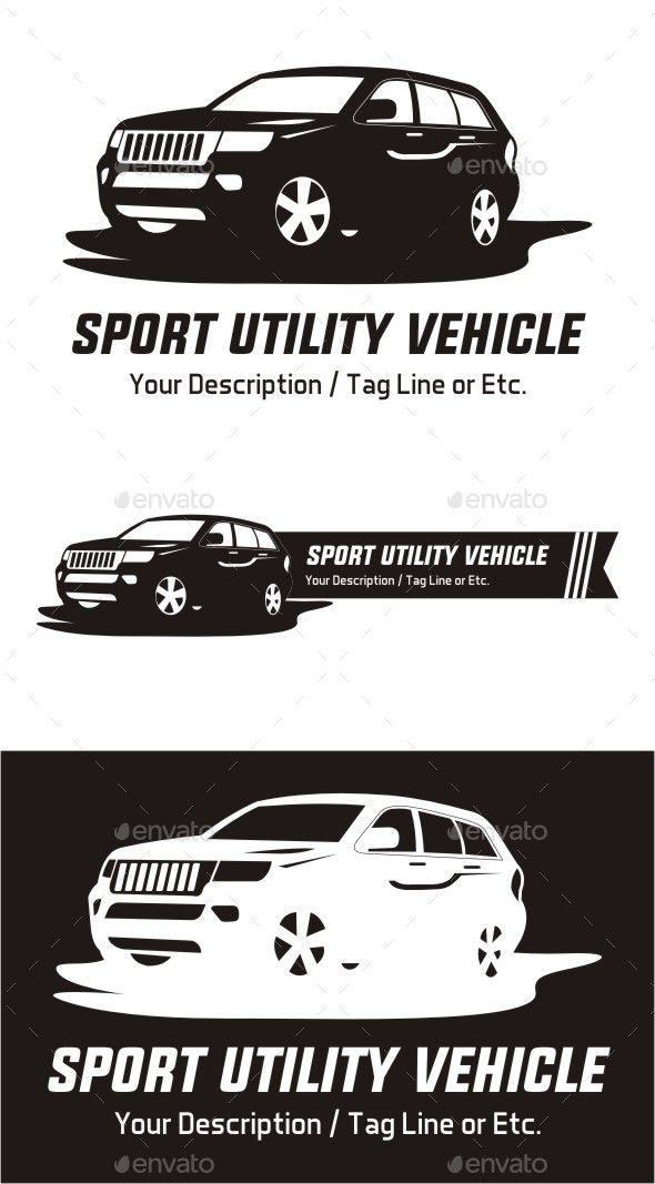Suv Car Logo Template Vector Eps Automotive Vehicle Available