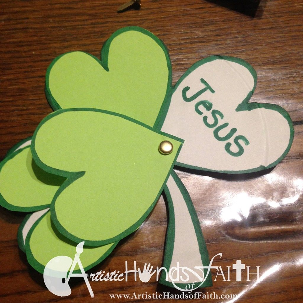 Holy Trinity Shamrock Craft And Bible Lesson For St