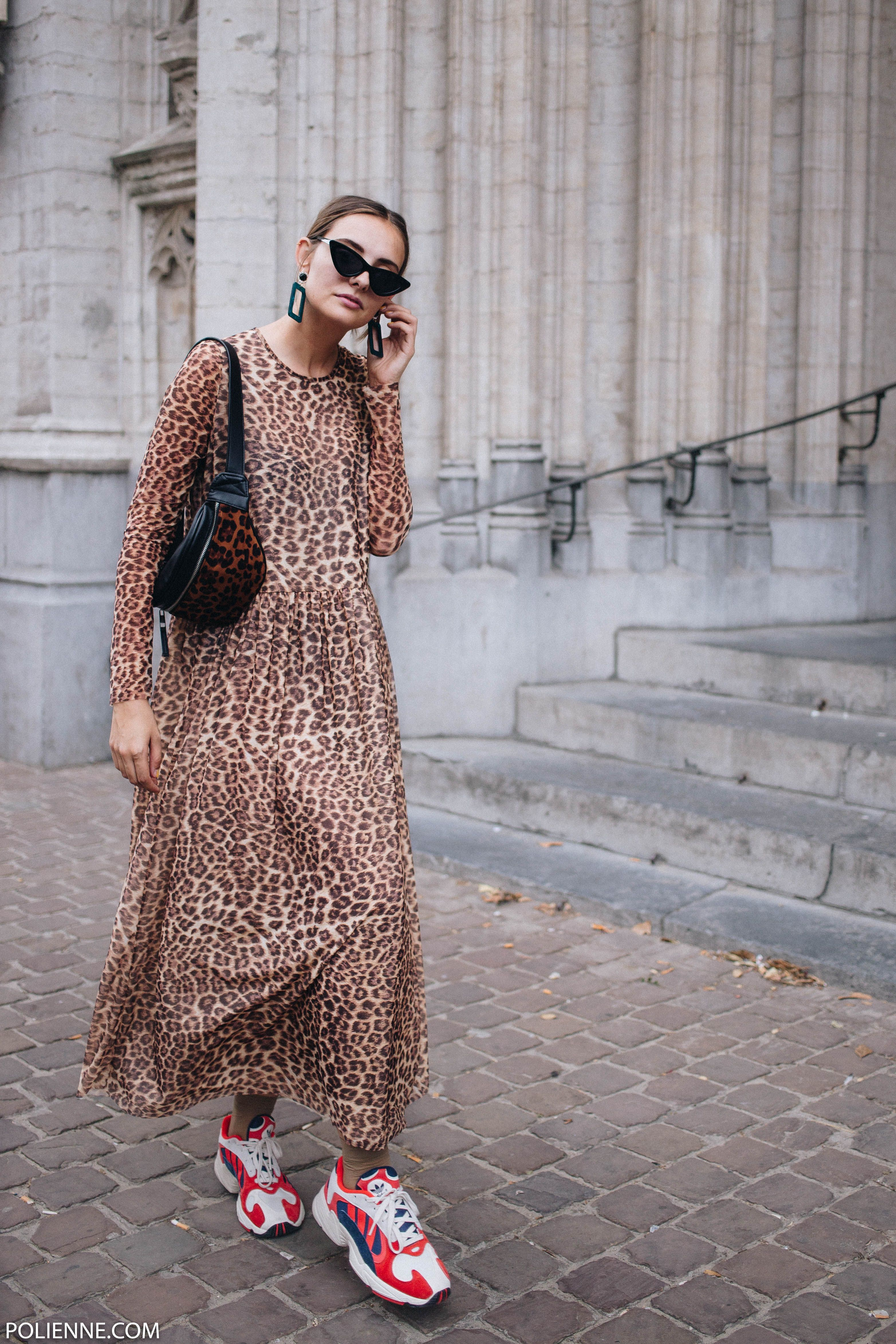 125fcfeb770 My leopard birthday outfit / leopard dress / Adidas Yung 1 - POLIENNE by  Paulien Riemis
