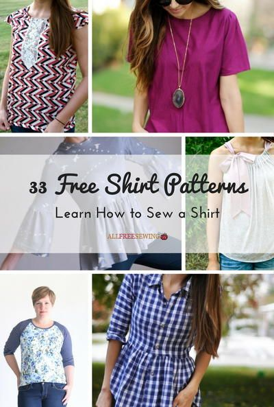 33 Free Shirt Patterns: Learn How to Sew a Shirt | Patterns, Sewing ...