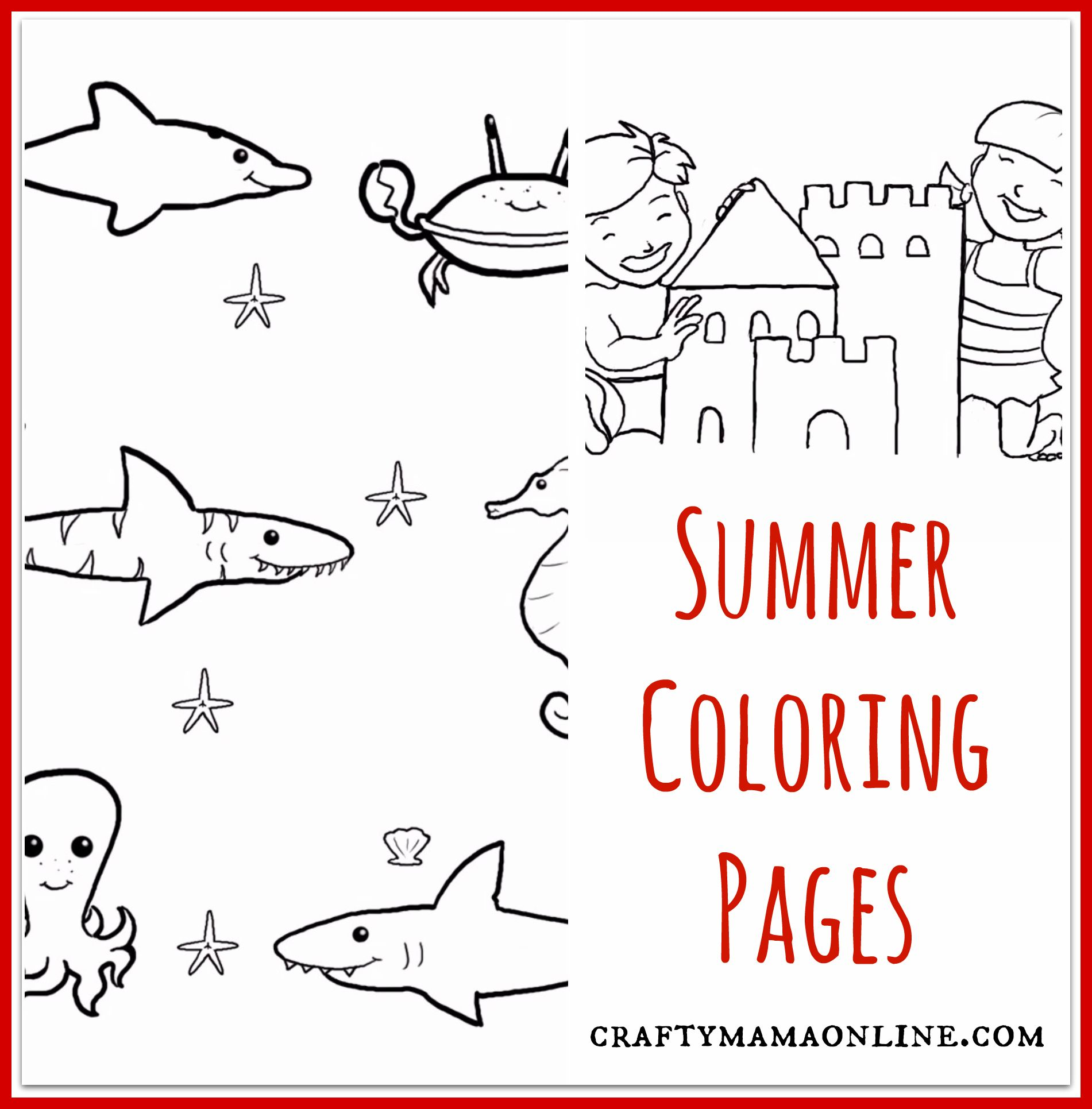 Summer Coloring Pages | Paper design, Summer and Free printable