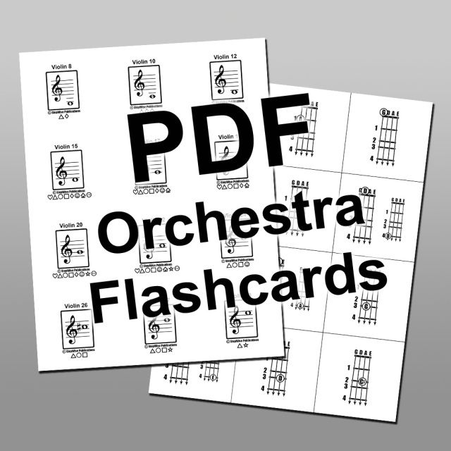 Orchestra Printable Pdf Flashcard Set Beginning Band