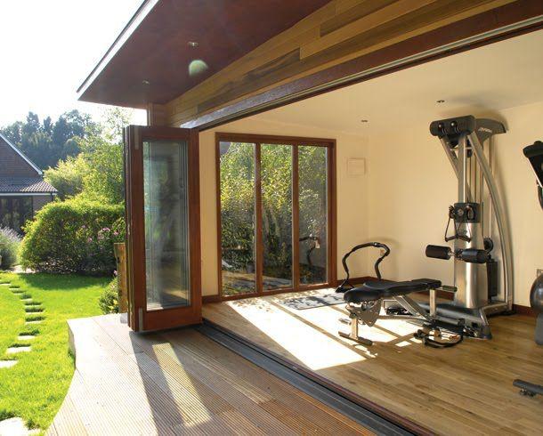 Workout With Fresh Air Gym Room At Home Home Gym Design Home Gym Decor