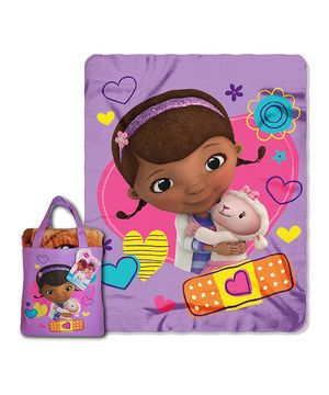 Loving this Purple Doc McStuffins Throw & Tote on #zulily! #zulilyfinds