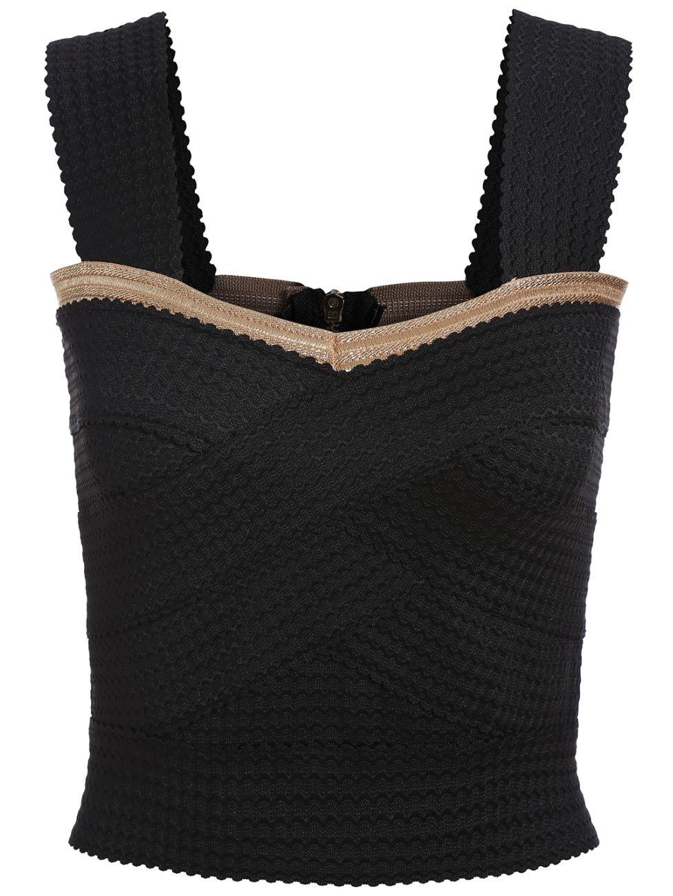 Strap Back Zipper Bandage Cami Top