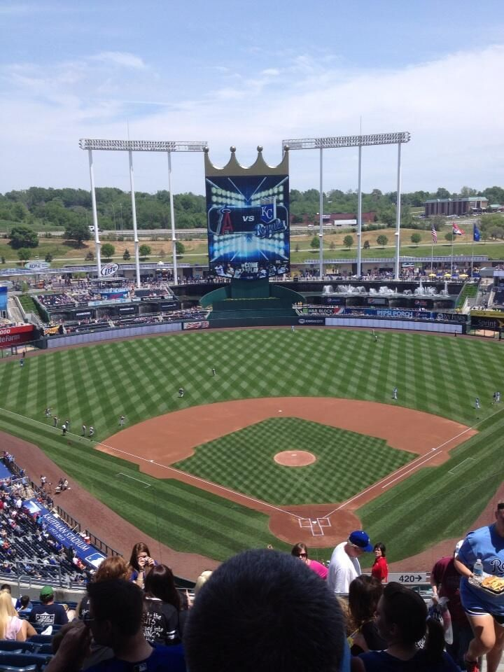 Angels Royals Kauffman Stadium May 25th 2013 Kansas City Royals Baseball Kansas City Royals Kauffman Stadium