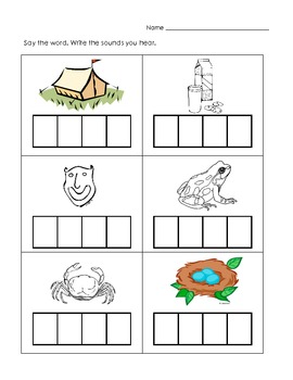 CVCC Word Writing from Pictures | Teachers Pay Teachers ...