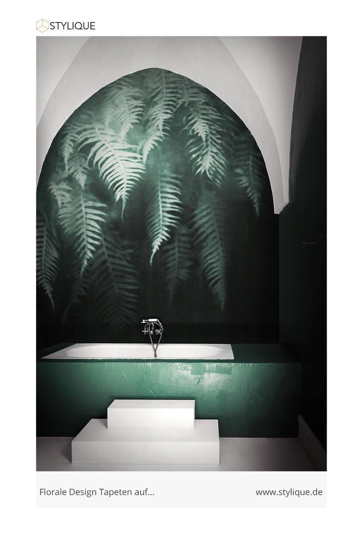 Londonart The Breath Of Ferns Badezimmer Tapete Tapeten Weisse Tapete