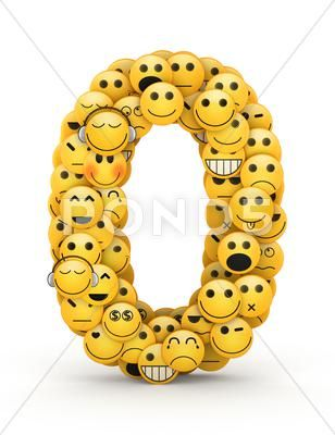 Emoticons Number 0 Stock Illustration Ad Number Emoticons Illustration Stock Emoticon Smiley Emoji Graffiti Alphabet