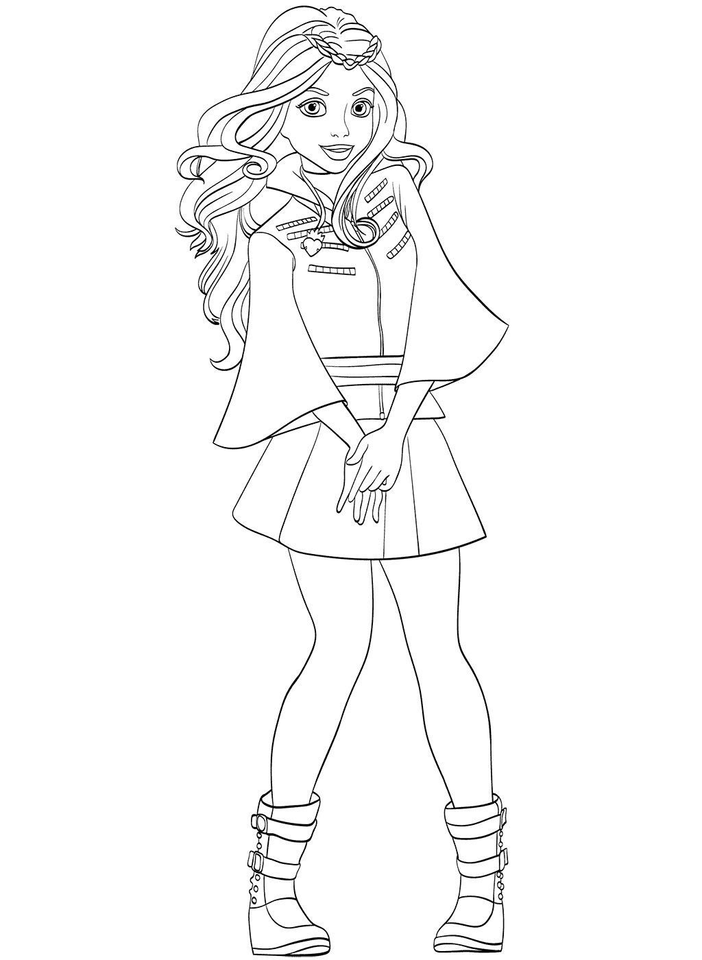Descendant Coloring Pages PDF Ideas with Superstar Casts