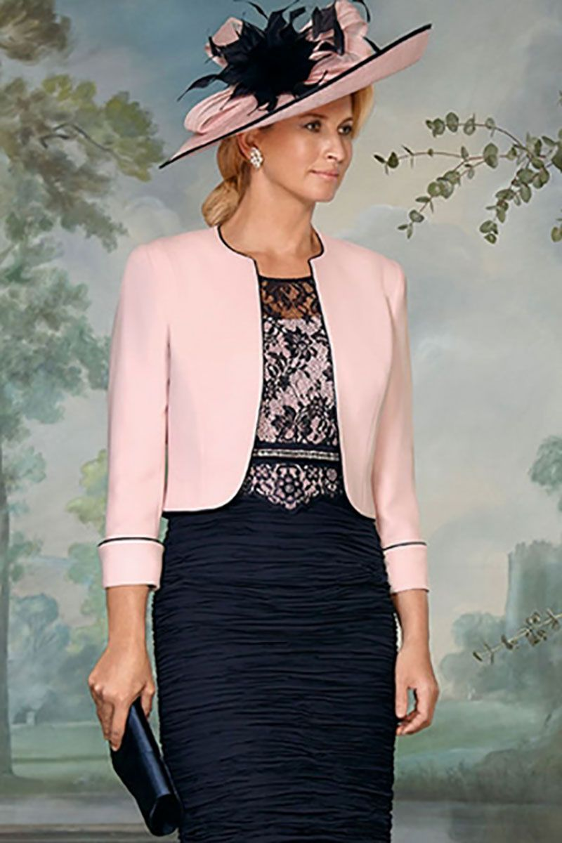 Condici two piece navy and blush dress with bolero 29146 also ...