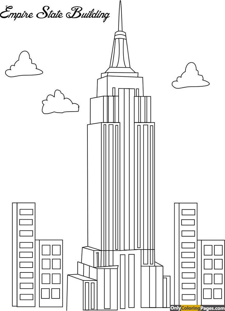 Empire State Building Coloring Pages Only Rhpinterest: Colouring Pages City Buildings At Baymontmadison.com