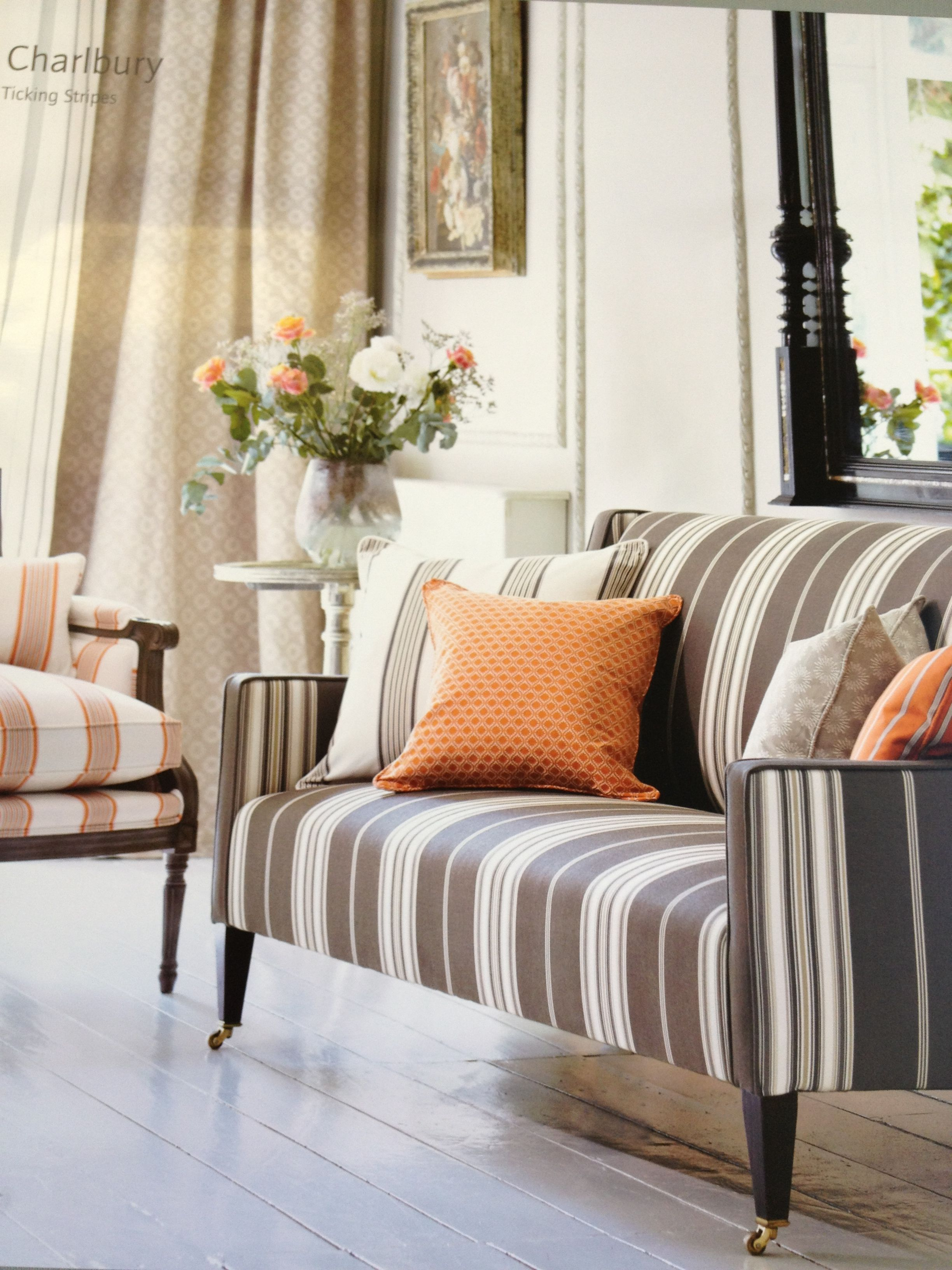 Stripe Sofa Best Deals Online Fabrics Pinterest Living Rooms