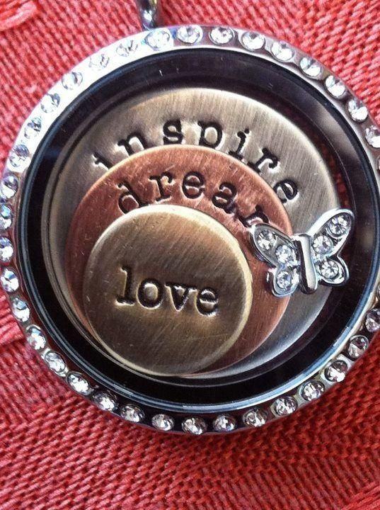 Origami Owl Inspire Dream Love Locket Love-❤Host a party contact me  Sabrina Stearns Independent Designer #44379, Origami Owl at: dreamcreteinspirebelieve@gmail.com  shop at http://dreamcreateinspirebelieve.origamiowl.com