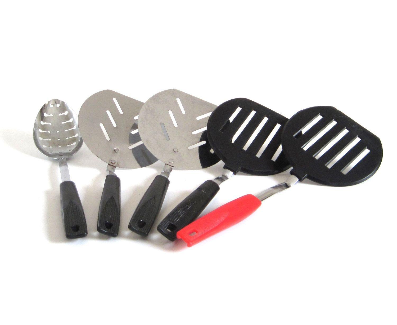 plastic spatulas ekco round pancake turner ekco short handle no  - plastic spatulas ekco round pancake turner ekco short handle no brandwhite handle korea unmarked black handle