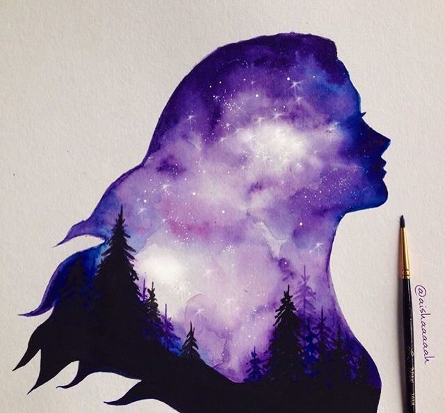 Watercolor Painting Ideas Galaxy