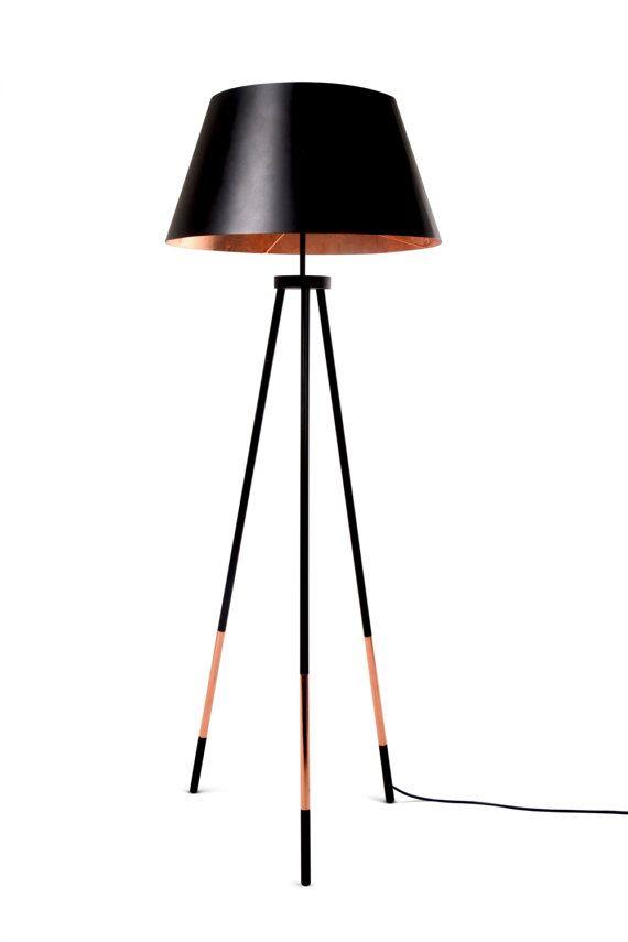 Floor Lamp Krafla SLIM. Copper lamp. Designer lamp.